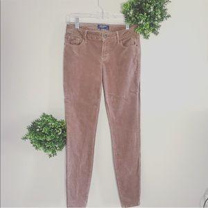 OLD NAVY blush velvet skinny pants size 2